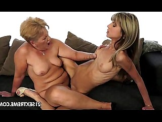 Old and Young Pussy Rimming Slender Ass Teen Blonde Fingering