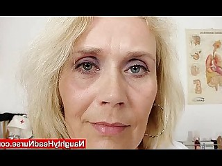 Mature Mammy Fetish Cougar Blonde Vagina Uniform Stocking