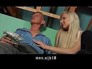 Old and Young Sucking Teen Babe Blonde Blowjob Big Cock Cumshot