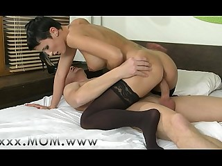 Stocking Pussy Playing Orgasm MILF Mature Mammy Kiss