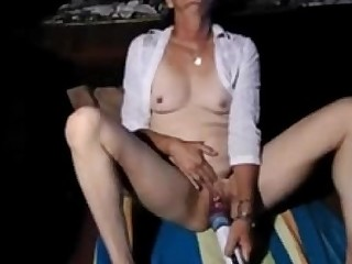 Granny Masturbation Mature MILF Orgasm Rough Vibrator