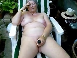 Granny Amateur Masturbation Outdoor Mature