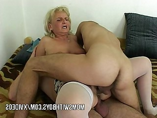 Mature Old and Young Prostitut Seduced Sucking Teen Wife Cougar