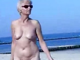 Granny Public Outdoor Nude Mature Monster Beach Cute