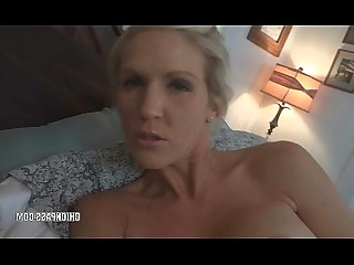Oral POV Wife Toys Blonde Blowjob Cumshot Dildo