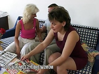 Old and Young Sucking Teen Wife Anal Cumshot Cougar Fuck