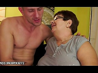 Licking Mature Natural Ass Old and Young Big Tits Oral Cumshot