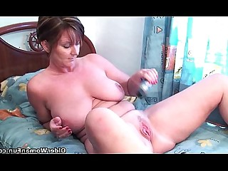 Mature Masturbation Granny Funny Fuck Stocking Dildo Ass