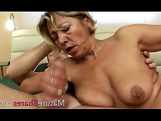 MILF Blonde Mature Hairy Granny Fatty