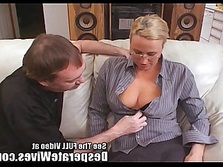 Blonde Wife Train Sperm Monster MILF Fuck